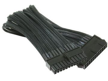 Kabel NZXT CB-24P, 24 Pin napajanje za matičnu ploču Sleeved, crni