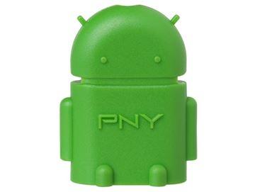 Adapter PNY, micro USB na USB, OTG-A2G-EF, OTG funkcija, zeleni