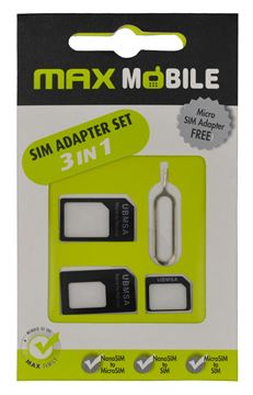 Set adaptera MAXMOBILE 3u1 za SIM I-PHONE