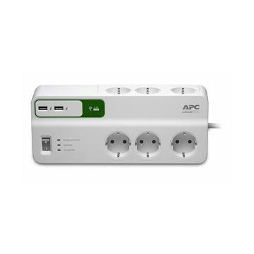 Prenaponska zaštita APC PM6U-GR, USB punjač, 6 utičnica