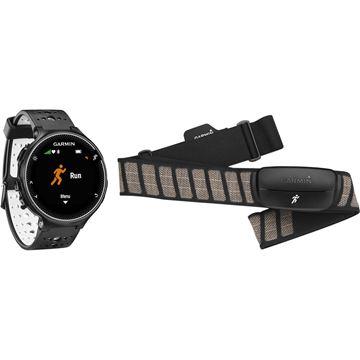 Sat GARMIN Forerunner 230, GPS, za trčanje, crno-bijeli, senzor otkucaja srca