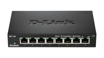 Switch D-LINK DES-108/E, 10/100 Mbps, 8-port