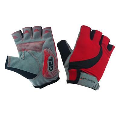 Biciklističke rukavice XPLORER gelirane, crvene, veličina XL