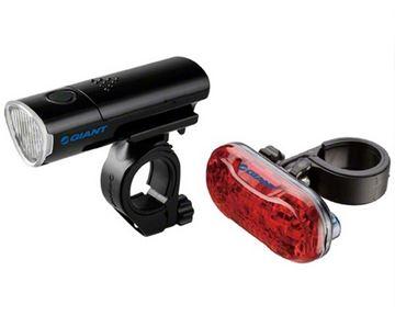 Svjetlo za bicikl GIANT LED Numen Combo, crno, prednje(5 lampica)+stražnje(5 lampica)