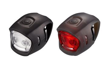 Svjetlo za bicikl GIANT LED Numen Mini Combo, crno, prednje(2 lampice)+stražnje(2 lampice)