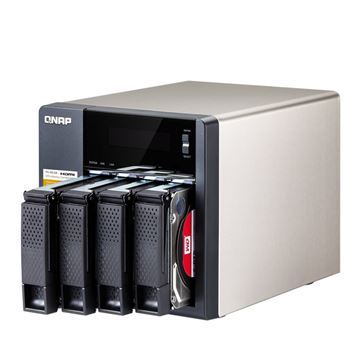 "Eksterno kućište QNAP NAS TS-453A-4G, Intel Celeron Quad Core 1.6GHz, 4GB DDR3, 512 MB Flash, 0HDD max 4x2,5'', 4x3.5"" SATA III HDD do 32TB, RAID 0/1/5/6/10 JBOD, Raid 5+ Hot Spare, HDMI, 3x USB 3.0"