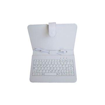 """Futrola za tablet računalo sa microUSB tipkovnicom, MS Industrial Lounge 7"""", univerzalna za tablete 7"""", bijela"""