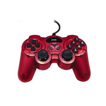 Gamepad MS INDUSTRIAL Console, dual vibration, dual shock function, žičani, USB, za PC, crveni
