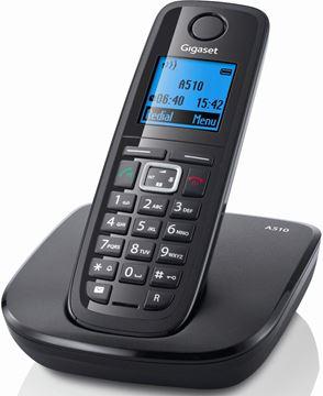 Telefon SIEMENS Gigaset A510, bežični, crni