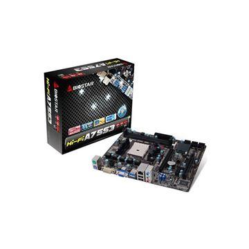 Matična ploča USED BIOSTAR Hi-Fi A75S3, AMD A75, DDR3, zvuk, S-ATA, RAID, USB 3.0, D-SUB, HDMI, mATX, s. FM2