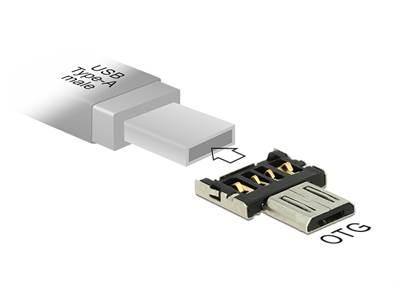 Adapter DELOCK, micro USB-B (M) na USB-A 2.0 (M), OTG funkcija
