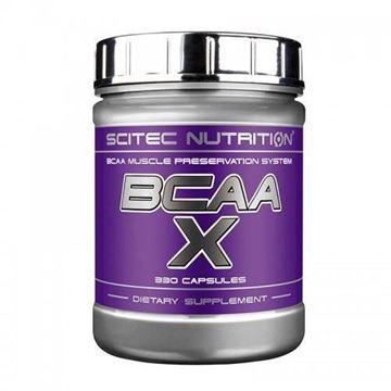 Aminokiseline SCITEC NUTRITION BCAA-X, 330 kapsula