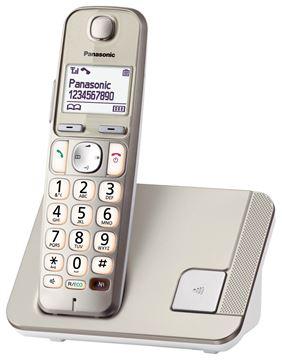 Telefon PANASONIC KX-TGE210FXN, bežični, šampanjac