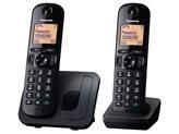Telefon PANASONIC KX-TGC212FXB TwinPack, bežični, crni