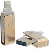 Memorija USB 3.0 FLASH DRIVE 16 GB, PQI iConnect mini, Apple MFi dual connector, zlatna (za iPod, iPhone, iPad)