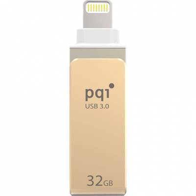 Memorija USB 3.0 FLASH DRIVE 32 GB, PQI iConnect mini, Apple MFi dual connector, zlatna (za iPod, iPhone, iPad)