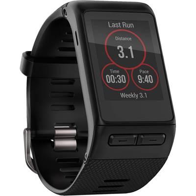 Narukvica za mjerenje aktivnosti GARMIN Vivoactive HEART RATE, monitor na zapešču, crna, regularna narukvica