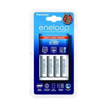 Punjač baterija PANASONIC Eneloop Smart Pro, brzi, 4 mjesta za punjenje + 4x 1900mAh AA baterije + 4x EnelopPro AA