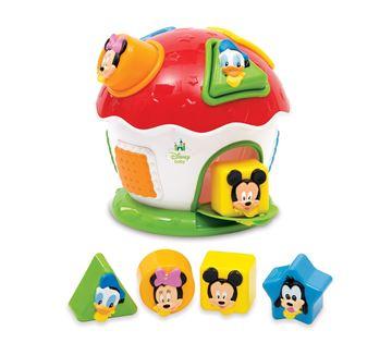 Igračka CLEMENTONI 14259, Mickey i prijatelji kućica, slaganje oblika