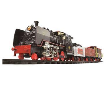 Igračka GOLDLOK GL 9228, Black Stalion, vlak na baterije, lokomotiva i tri vagona
