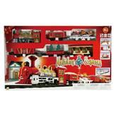 Igračka GOLDLOK GL 9670-08, Holiday Express, vlak na baterije, zlatna lokomotiva, pet vagona