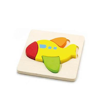 Drvena igračka VIGA 50173, Avion, slagalica za djecu, 4 komada