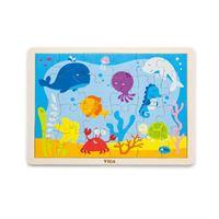 Drvena igračka VIGA 50200, Ocean, slagalica za djecu, 24 komada