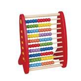 Drvena igračka VIGA 59718, Abakus, za učenje zbrajanja, crveni