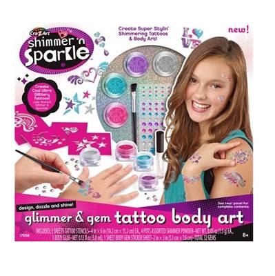 Kreativni set CRAZART 17059, Set za oslikavanje tijela i tattoo naljepnice