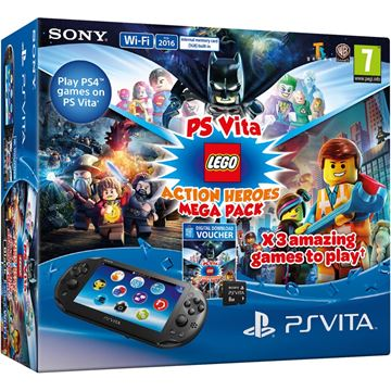 Igraća konzola SONY PlayStation Vita 2016, + Mega pack Action + 8GB V2 memorijska kartica