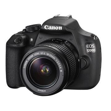 Digitalni fotoaparat CANON EOS 1200D + objektiv EFSIII 18-55, 18 Mpixela, 10x optički zoom, SD, SDHC, SDXC, USB, miniHDMI, crni