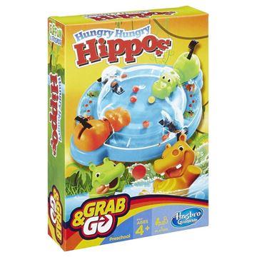 Društvena igra HASBRO Grab&Go, Gladni Hippo (Hungry Hungry Hippos), putno izdanje