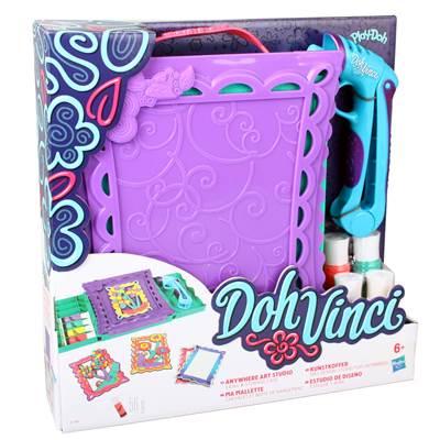 Kreativni set HASBRO A7198, Play-Doh DohVinci, Anywhere Art Studio Easel & Storage Case, seet za izradu slika