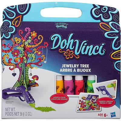 Kreativni set HASBRO B1719, Play-Doh DohVinci, Jewelry Tree Kit, drvo za nakit