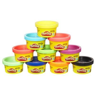 Masa za modeliranje HASBRO 22037, Play-Doh, Party Pack Tube, set, 10 boja