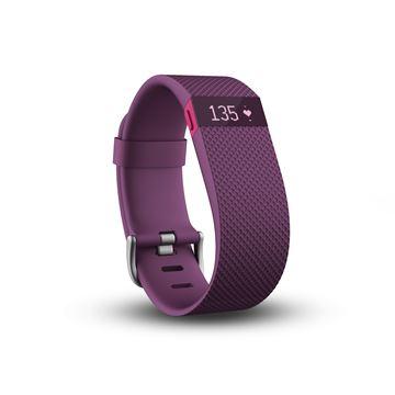 Narukvica za mjerenje aktivnosti FITBIT Charge HR, senzor otkucaja srca, veličina L, ljubičasta