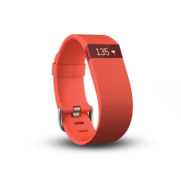 Narukvica za mjerenje aktivnosti FITBIT Charge HR, senzor otkucaja srca, veličina L, narančasta