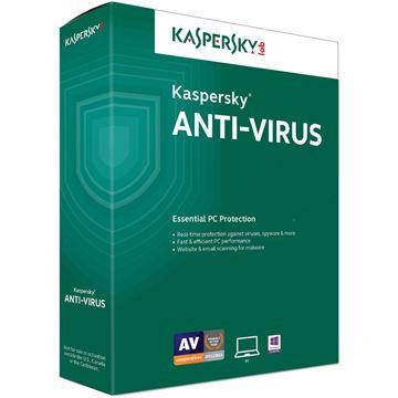 KASPERSKY Anti-Virus 2016, 1 PC, licenca jedna godina, retail + 1 gratis retail