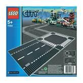 LEGO 7280, City, Straight & Crossroad Plates, ravna cesta i križanje