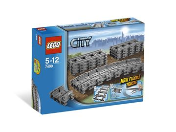LEGO 7499, City, Flexible and Straight Tracks, fleksibilne tračnice