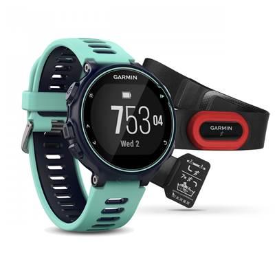 Sat GARMIN Forerunner 735XT RUNNING Bundle, GPS, multisport, mjerenje pulsa na zapešću, plavi/ledeno plavi