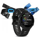 Sat GARMIN Forerunner 735XT TRIATHLON Bundle, GPS, multisport, mjerenje pulsa na zapešću, crno/sivi