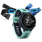 Sat GARMIN Forerunner 735XT TRIATHLON Bundle, GPS, multisport, mjerenje pulsa na zapešću, plavi/ledeno plavi