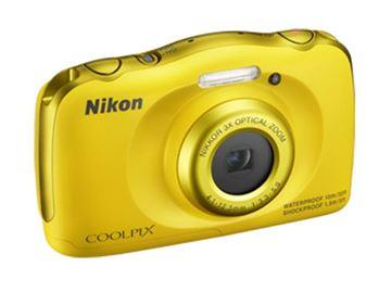 Digitalni fotoaparat NIKON Coolpix S33, 13.2  Mpixela, 3x optički zoom, SD/SDHC/SDXC, USB, vodootporan, žuti + ruksak