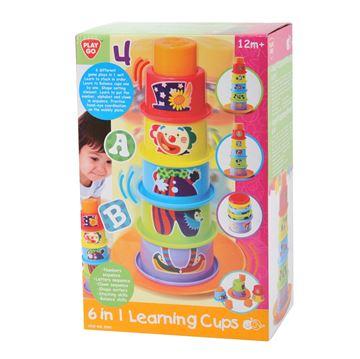 Igračka PLAYGO 2395, 6in1 Learning Cups, šalice za slaganje