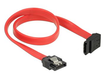 Kabel DELOCK, interni SATA, 6Gb/s, 30cm, kutni, crveni