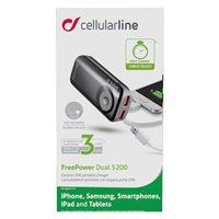 Mobilni USB punjač CELLULARLINE Pocket, USB, 5200mAh, crni
