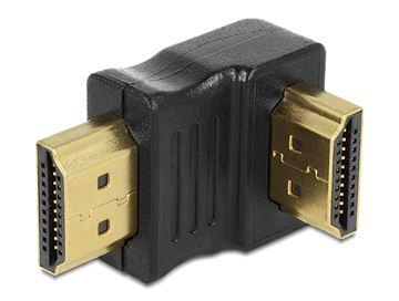 Adapter DELOCK, HDMI (M) na HDMI (M) pod donjim kutem 90°
