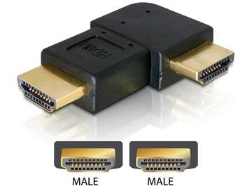 Adapter DELOCK, HDMI (M) na HDMI (M) pod lijevim kutem 90°