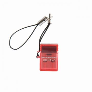Čitač memorijskih kartica MODECOM CR-NANO Red, USB